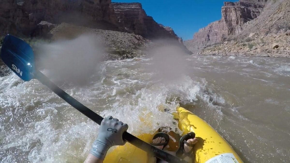 kayaking rapids Colorado River