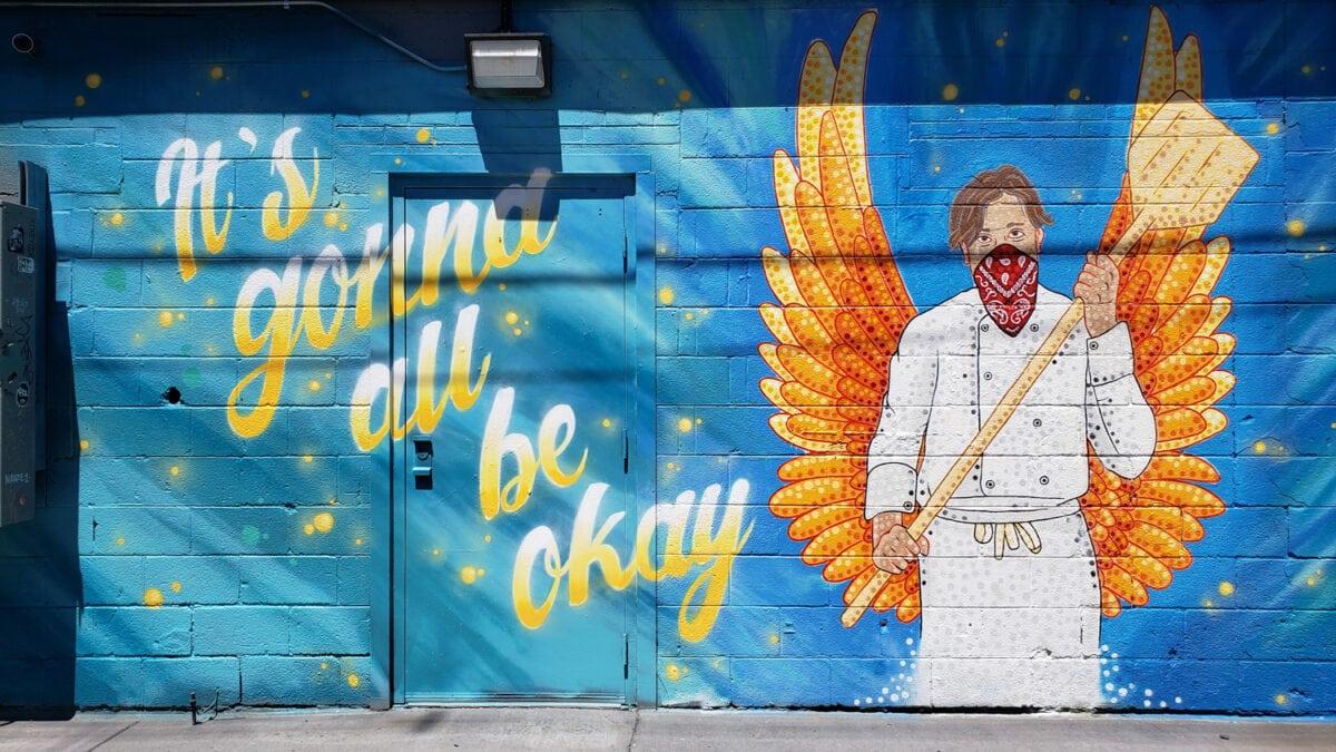 Covid street art denver